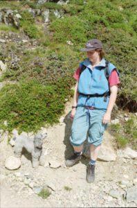 Pia beim Wandern